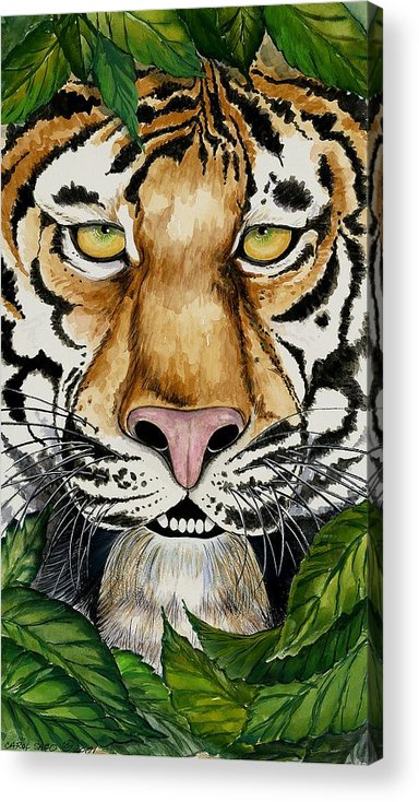 Art Acrylic Print featuring the painting Be Like A Tiger by Carol Sabo