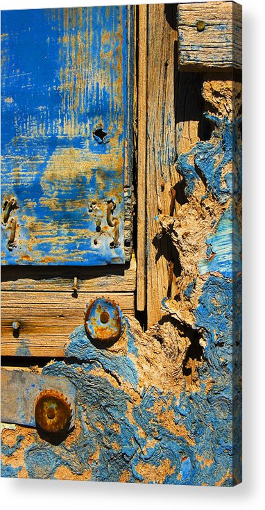 Abstract Acrylic Print featuring the photograph Blues Dues by Skip Hunt