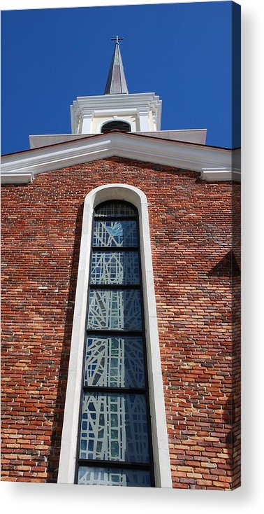 Architecture Acrylic Print featuring the photograph Brick Church by Rob Hans