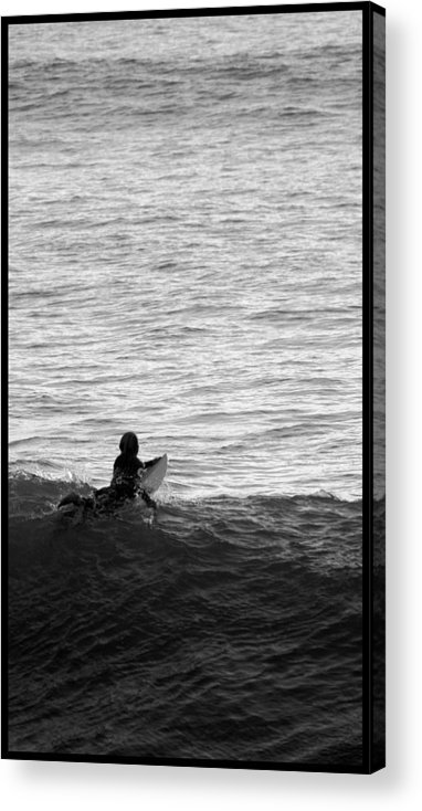San Clemente Pier Acrylic Print featuring the photograph California Surfing by Brad Scott
