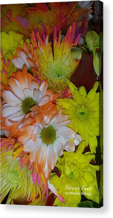 Flowers Acrylic Print featuring the photograph Flower Bouquet by Maxine Billings