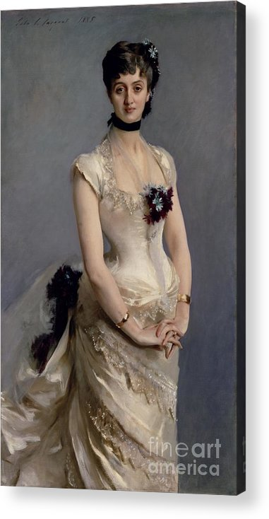 Madame Acrylic Print featuring the painting Madame Paul Poirson by John Singer Sargent