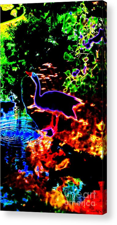 Neon Acrylic Print featuring the digital art Neon Nature by JD Poplin