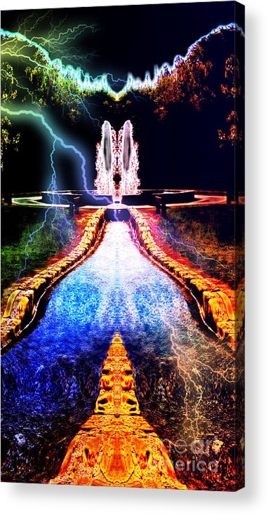 River Acrylic Print featuring the digital art River To Eternity by JD Poplin