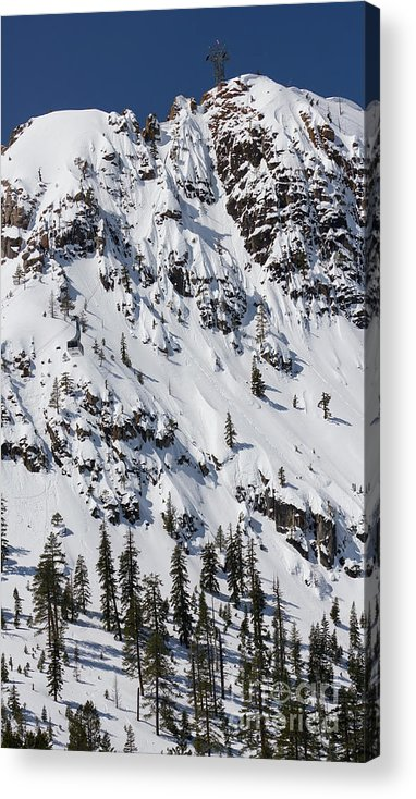 Squaw Valley Tram Acrylic Print featuring the photograph Squaw Valley Tram Hill by Dustin K Ryan