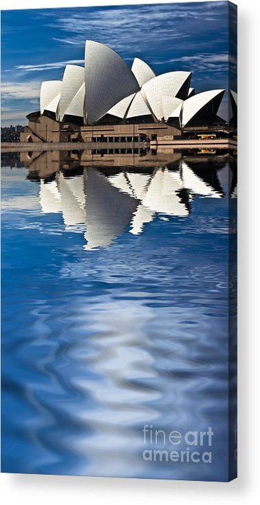 Sydney Opera House Sydney Harbour Acrylic Print featuring the photograph The Iconic Sydney Opera House by Sheila Smart Fine Art Photography
