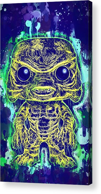 Funko Pop Acrylic Print featuring the mixed media Creature From The Black Lagoon Pop by Al Matra