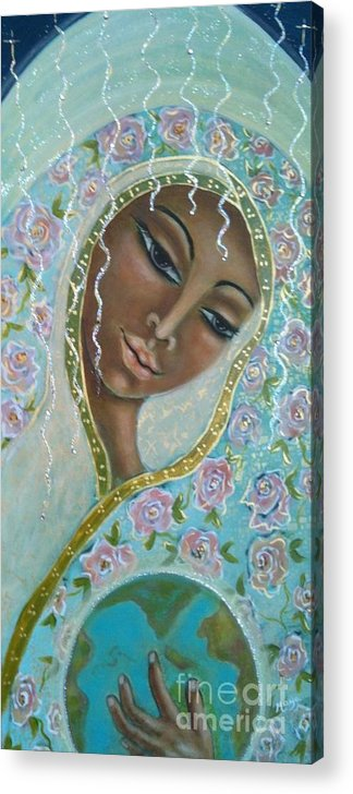 Visionary Art Acrylic Print featuring the painting Ma -first Sound In The Universe by Maya Telford
