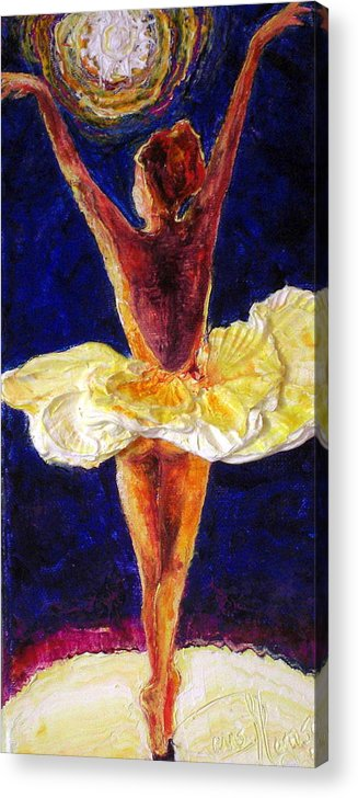 Ballerina Dancing Acrylic Print featuring the painting Ballerina Dancing IIi by Paris Wyatt Llanso