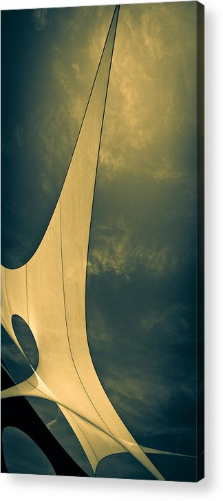 Abstract Acrylic Print featuring the photograph Canvas Sky by Bob Orsillo