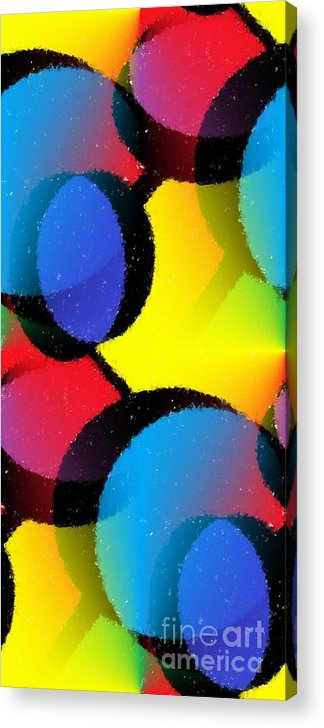 Abstract Acrylic Print featuring the mixed media Orbit by Chris Butler