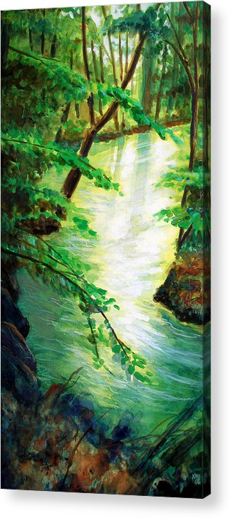 Forest Acrylic Print featuring the painting Fairfax Summer by Ken Meyer