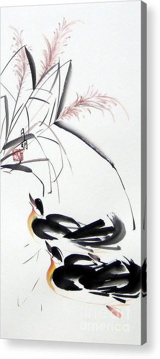 Chinese Painting Acrylic Print featuring the painting Home Coming by Ming Yeung