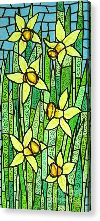Jonquils Acrylic Print featuring the painting Jonquil Glory by Jim Harris