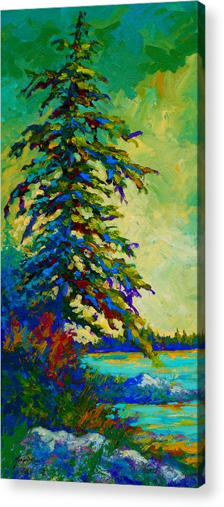 West Coastal Acrylic Print featuring the painting West Coast Sentinel by Marion Rose