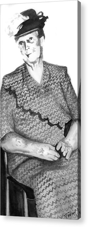 Grandmother Acrylic Print featuring the painting Grandma by Ferrel Cordle