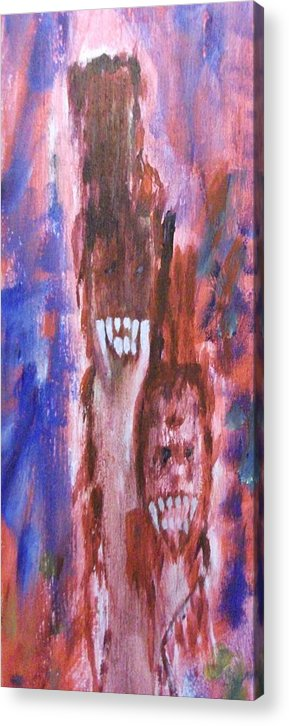 Vampires Acrylic Print featuring the painting Happy by Randall Ciotti