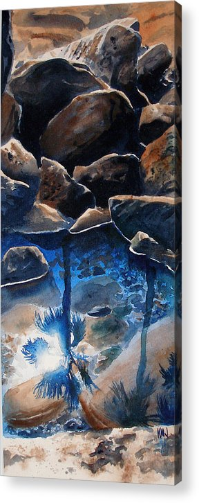 Seascape Acrylic Print featuring the painting Reflections by Ken Meyer