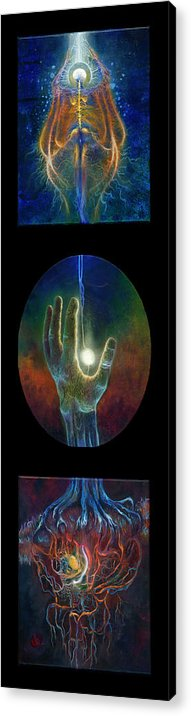 Dreams Acrylic Print featuring the painting Ascension Of The Soul by Kd Neeley