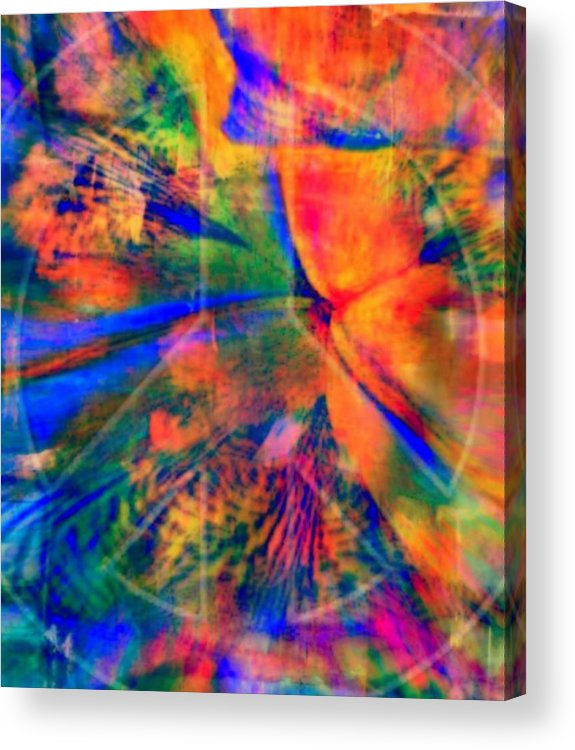 Peace Acrylic Print featuring the mixed media Give Peace A Chance by Wendie Busig-Kohn