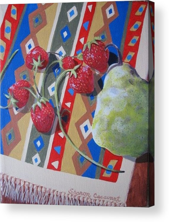 Fruit Acrylic Print featuring the painting Colorful Fruit by Sharon Casavant