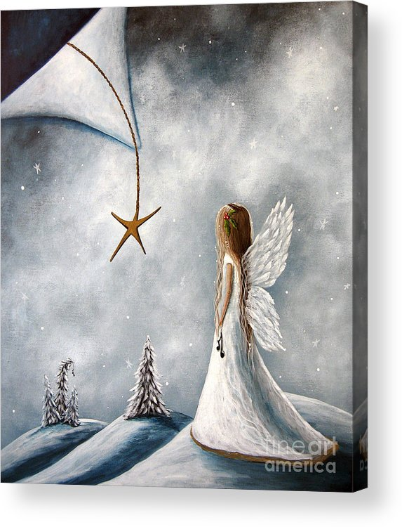 Angel Art Acrylic Print featuring the painting The Christmas Star Original Artwork by Artisan Parlour