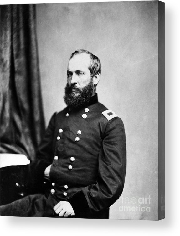 Government Acrylic Print featuring the photograph Major General Garfield, 20th American by Chicago Historical Society