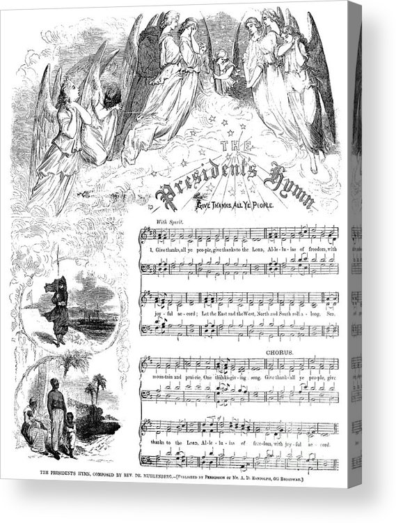 1863 Acrylic Print featuring the photograph Presidents Hymn, 1863 by Granger
