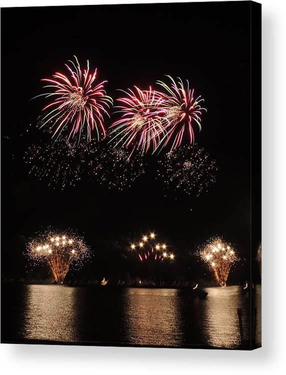 Fireworks Acrylic Print featuring the photograph Sky Color by Red Cross