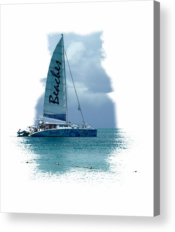 Sail Boat Acrylic Print featuring the photograph Turks 41 by Allan Rothman