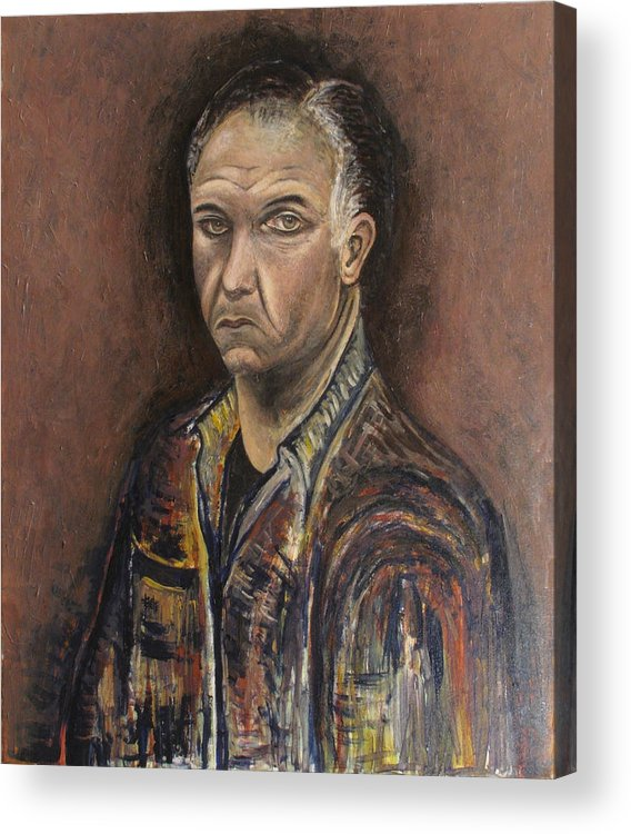 Portrait Acrylic Print featuring the painting Portrait Of A Man by Vladimir Kezerashvili