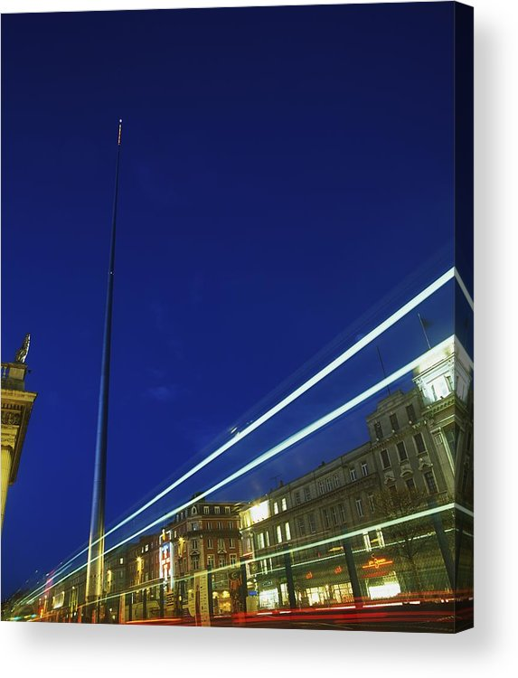 Outdoors Acrylic Print featuring the photograph Spire Of Dublin, Oconnell Street by The Irish Image Collection