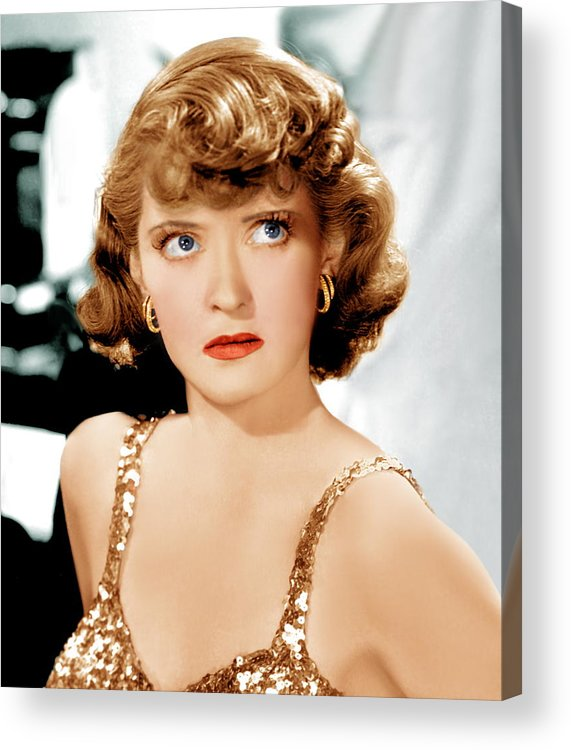 1930s Hairstyles Acrylic Print featuring the photograph Marked Woman, Bette Davis, 1937 by Everett