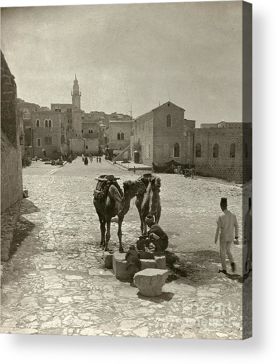1911 Acrylic Print featuring the photograph Bethlehem: Street, C1911 by Granger
