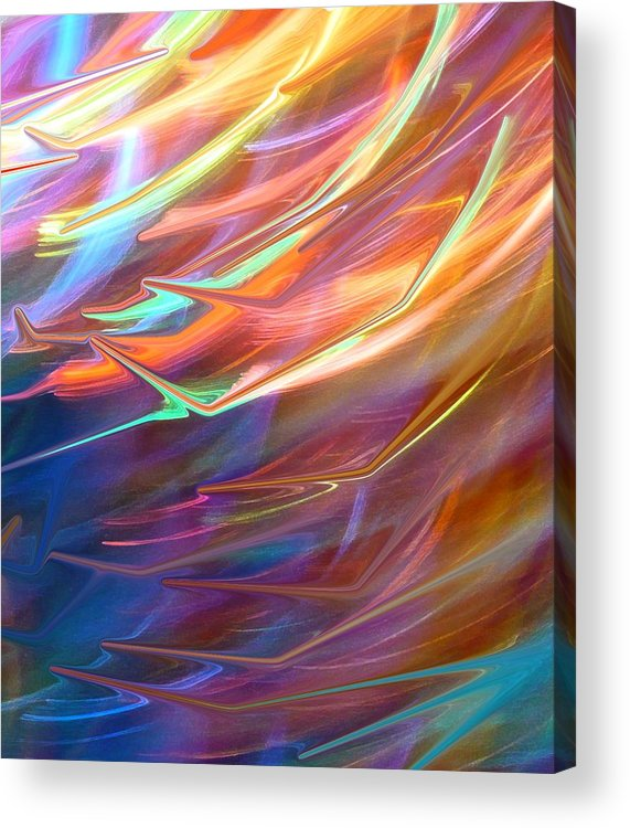 Abstract Acrylic Print featuring the photograph Blown Away by Florene Welebny