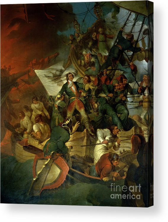 Russian Capture Of The Azov Sea From The Crimean Tatar Vassals Of Turkey Acrylic Print featuring the painting Capture Of Azov by Sir Robert Kerr Porter