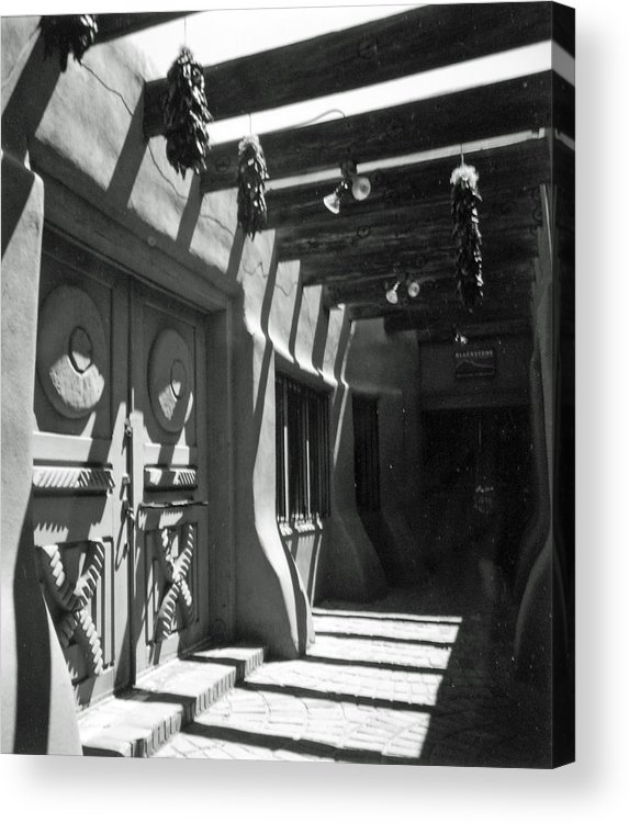 Travel Acrylic Print featuring the photograph Doors And Shadows by Allan McConnell