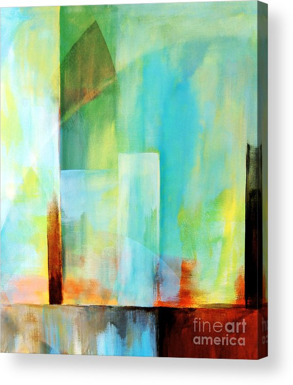 Abstract Acrylic Print featuring the painting Glass Houses Vi by Josie Duff
