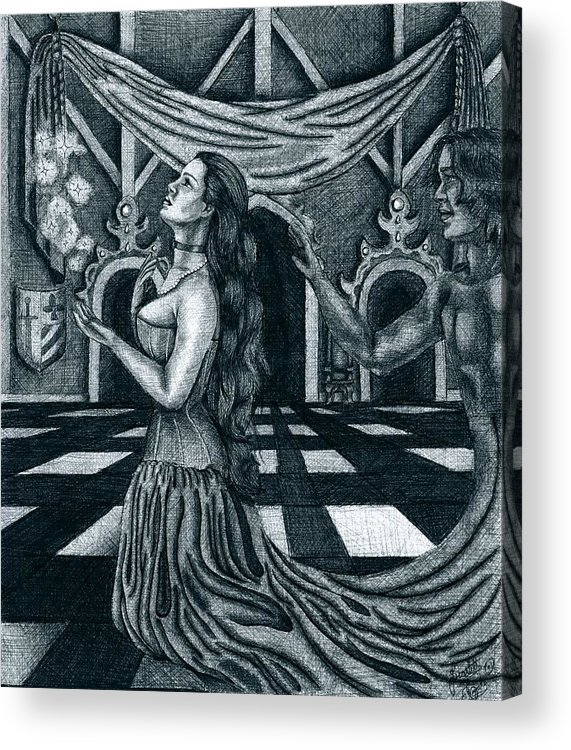 Fantasy Acrylic Print featuring the drawing Hopes And Dreams by Scarlett Royal
