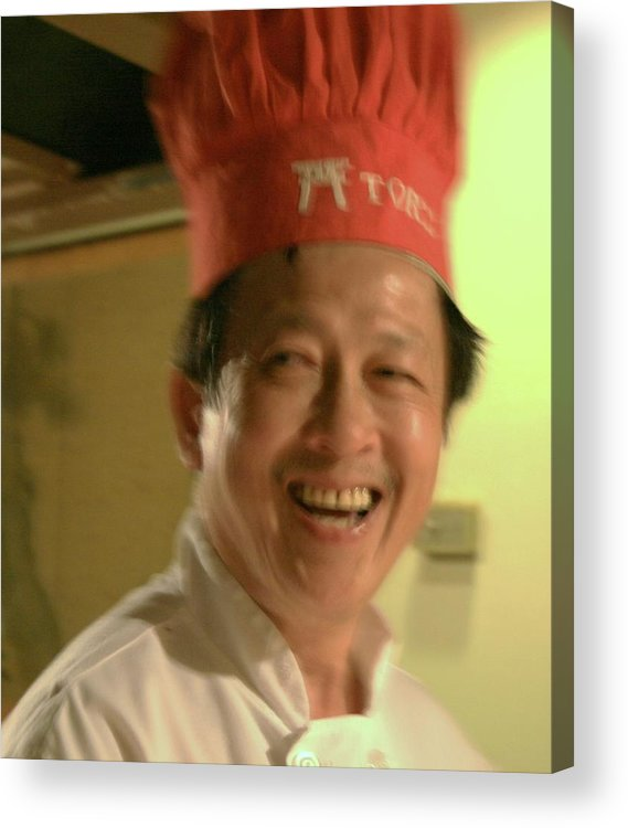 Close Up Acrylic Print featuring the photograph Japanese Chef by Joshua Sunday