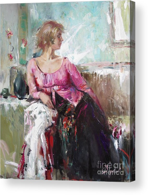 Ignatenko Acrylic Print featuring the painting Lera by Sergey Ignatenko