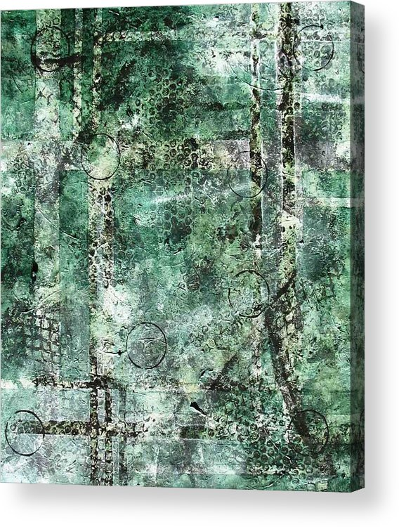 Abstract Acrylic Print featuring the painting Lines Of Communication by Sophia Elise