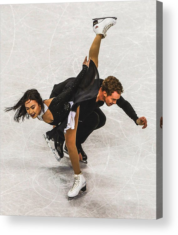 Decoration Acrylic Print featuring the digital art Madison Chock And Evan Bates by Don Kuing