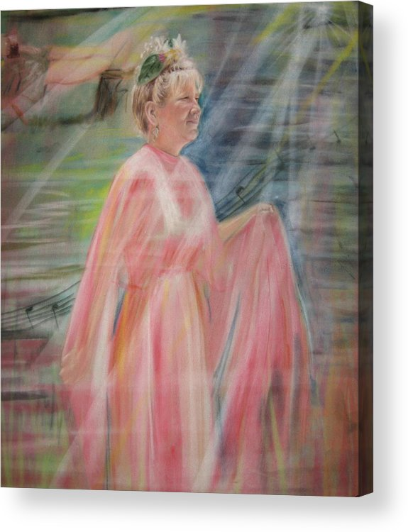 Mother Nature Acrylic Print featuring the pastel Magic Mother Nature by Larry Whitler