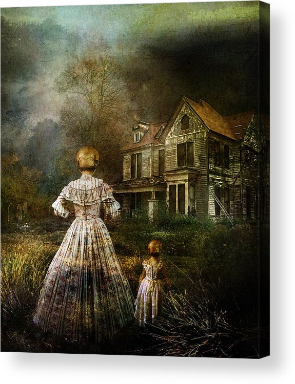 Ghostly Acrylic Print featuring the digital art Memories by Mary Hood