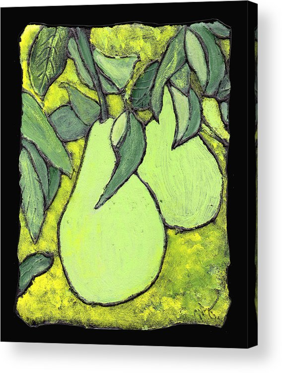 Pears Acrylic Print featuring the painting Michigan Pears by Wayne Potrafka