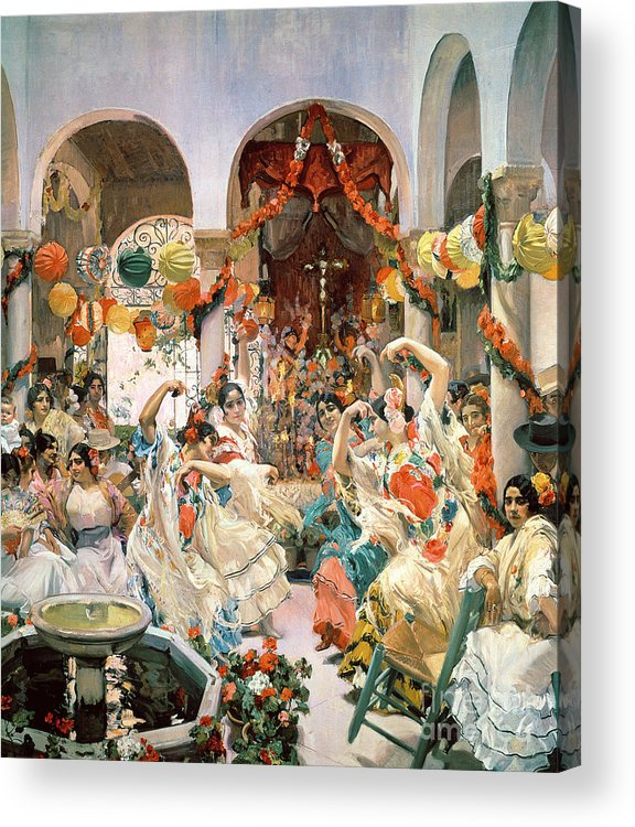 Seville Acrylic Print featuring the painting Seville by Joaquin Sorolla y Bastida