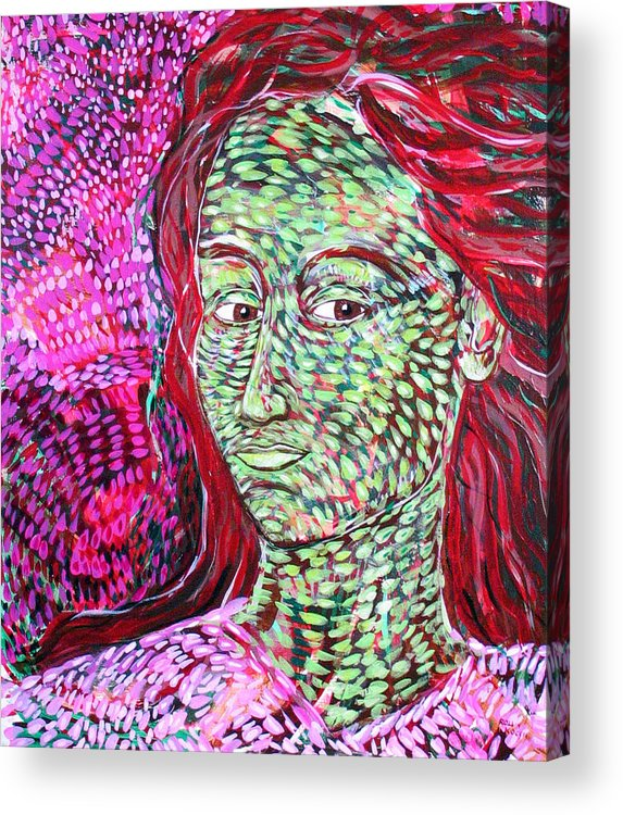 Female Acrylic Print featuring the painting Stay With Me by Rollin Kocsis