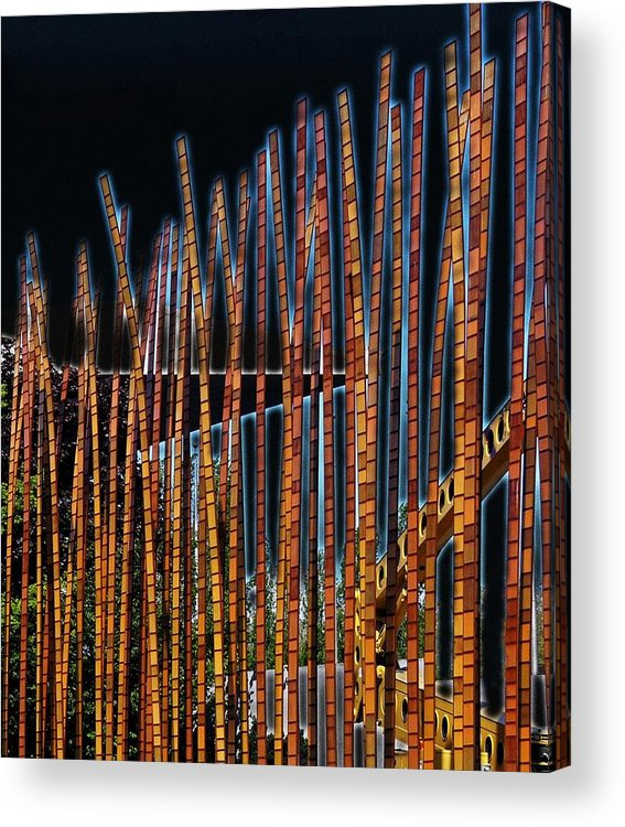 Poles Acrylic Print featuring the digital art Sticks by Kenna Westerman
