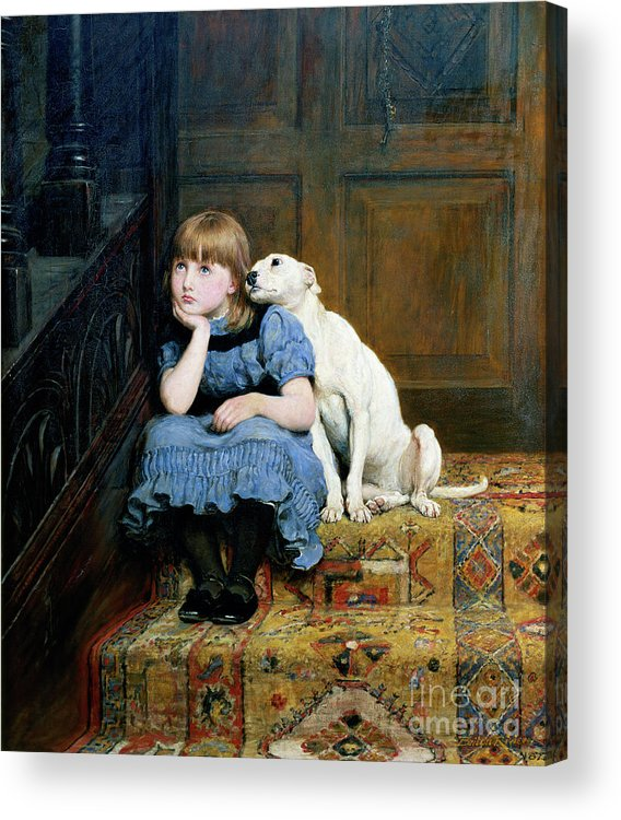 Sympathy Acrylic Print featuring the painting Sympathy by Briton Riviere